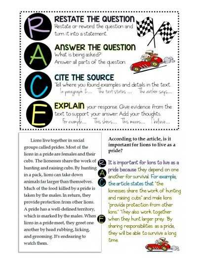 Race Writing Strategy Worksheet Along with 25 Best Constructed Response Images On Pinterest