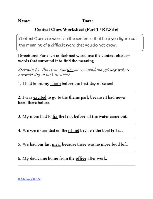 Reading and Questions Worksheets and 5th Grade Mon Core