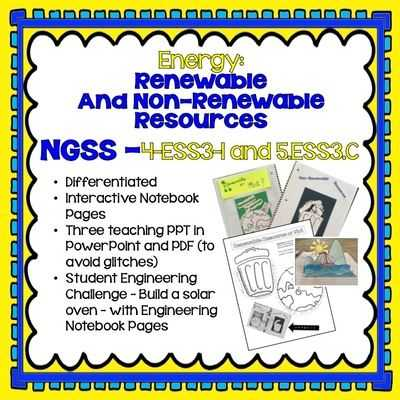 Renewable and Nonrenewable Energy Worksheets Along with Ngss Earth Science 4th and 5th Grade Energy Renewable and Non