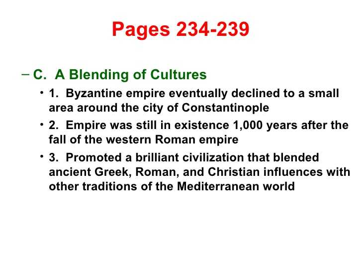 Rome Engineering An Empire Worksheet Answers with Section 1 byzantine Empire World History 1