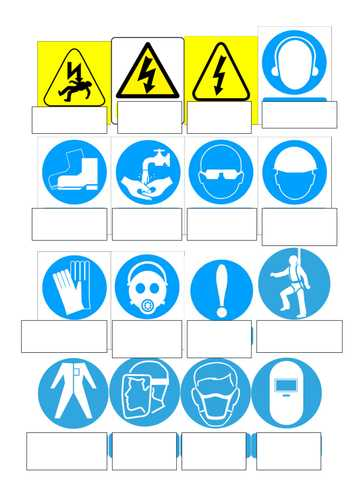 Safety Symbols Worksheet Along with 187 Printable Safety Signs for Safety Signs Safety Environmental