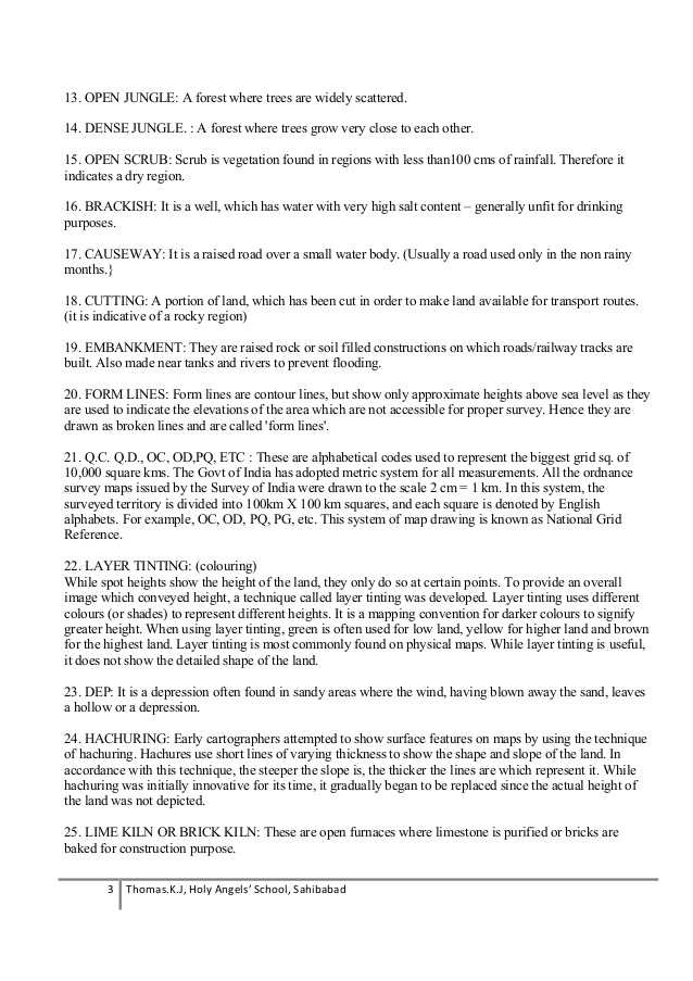 Salting Roads Worksheet Answers or Class X Geography Question Bank