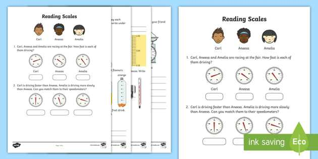Scale Practice Worksheet and Reading Scales Worksheet Activity Sheet Reading Scales