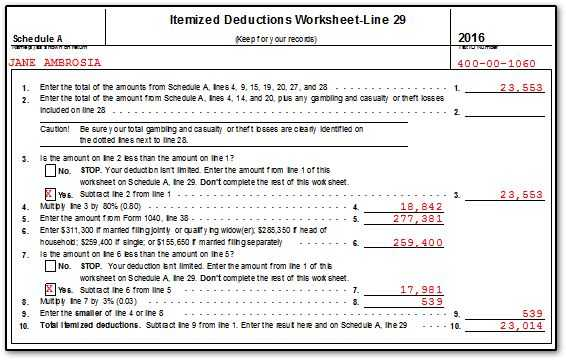 Schedule A Medical Expenses Worksheet with Worksheets 41 Awesome Itemized Deductions Worksheet High Definition