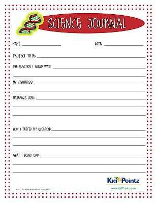 Science Project Worksheet with Science Journal Worksheet for Kids Science Experiments