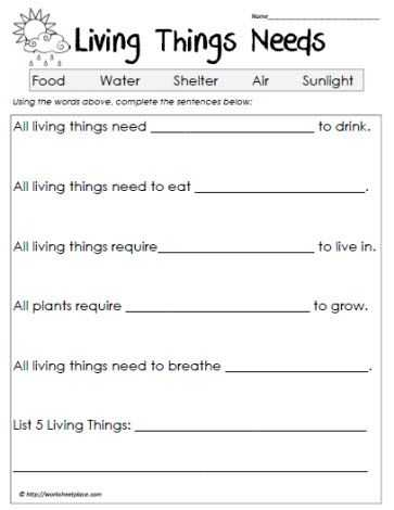 Science Worksheets Special Education and Science Worksheets Living Vs Non Living