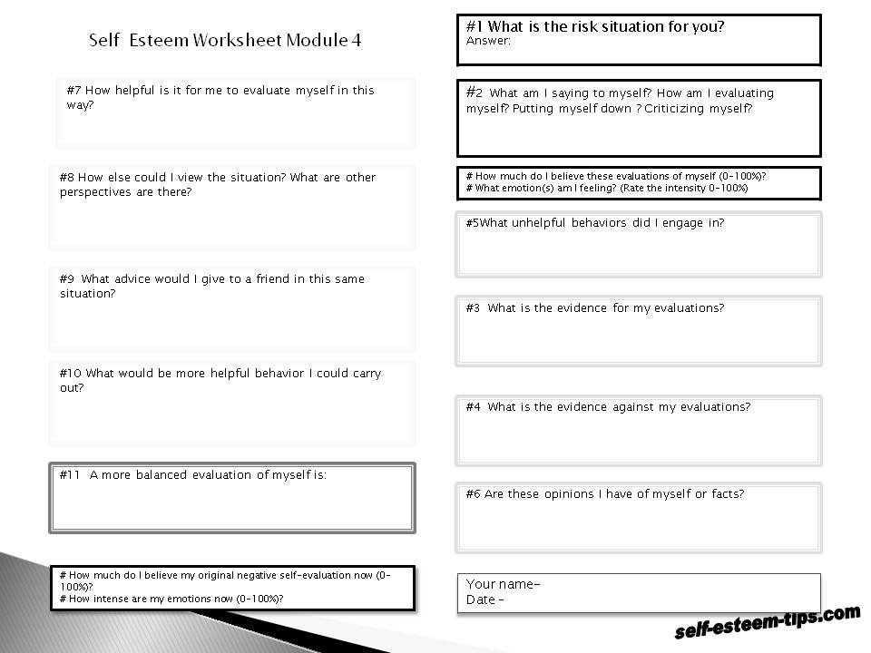 Self Esteem Worksheets for Teens and Worksheets 46 Re Mendations Chemical formula Writing Worksheet Hi
