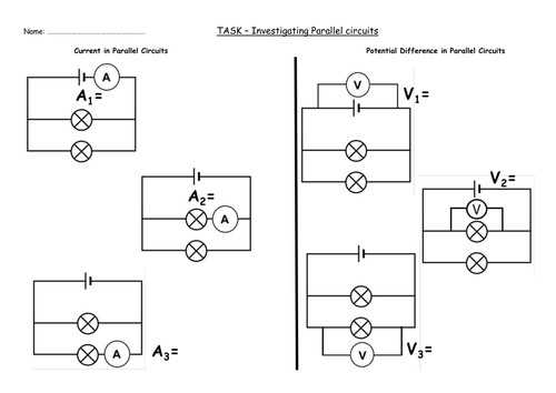 Series and Parallel Circuits Worksheet Answer Key with Series and Parallel Circuits Worksheet New Electricity 6 Lessons