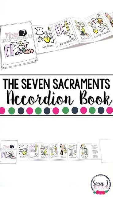 Seven Sacraments Worksheet Also Catholic Mini Accordion Books