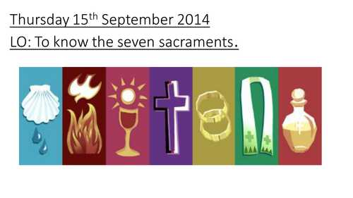 Seven Sacraments Worksheet and Seven Sacraments by Missashley Teaching Resources Tes