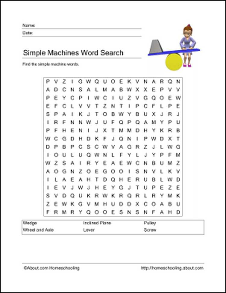 Simple Machines Worksheet Answers and Learn About Simple Machines with these Free Printables