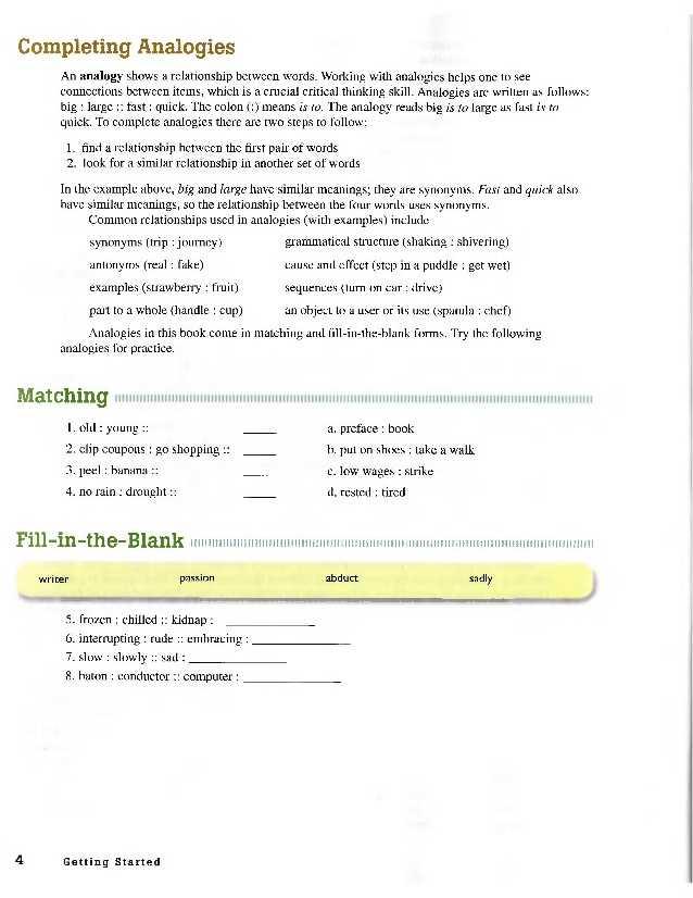 Skills Worksheet Critical Thinking Analogies Environmental Science and Academic Vocabulary