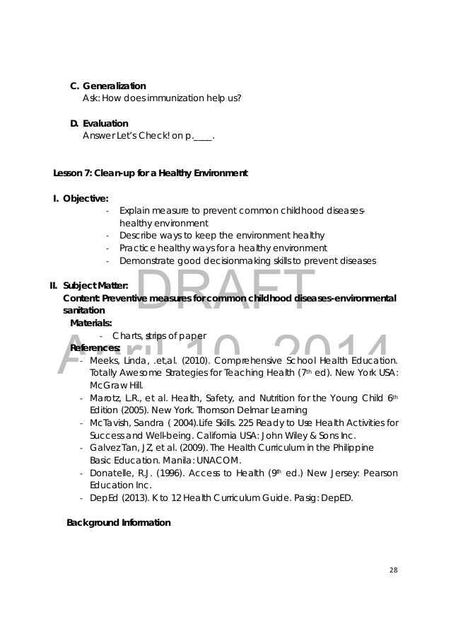 Skills Worksheet Reteaching Answers Lifetime Health Along with Grade 3 Health Teachers Guide