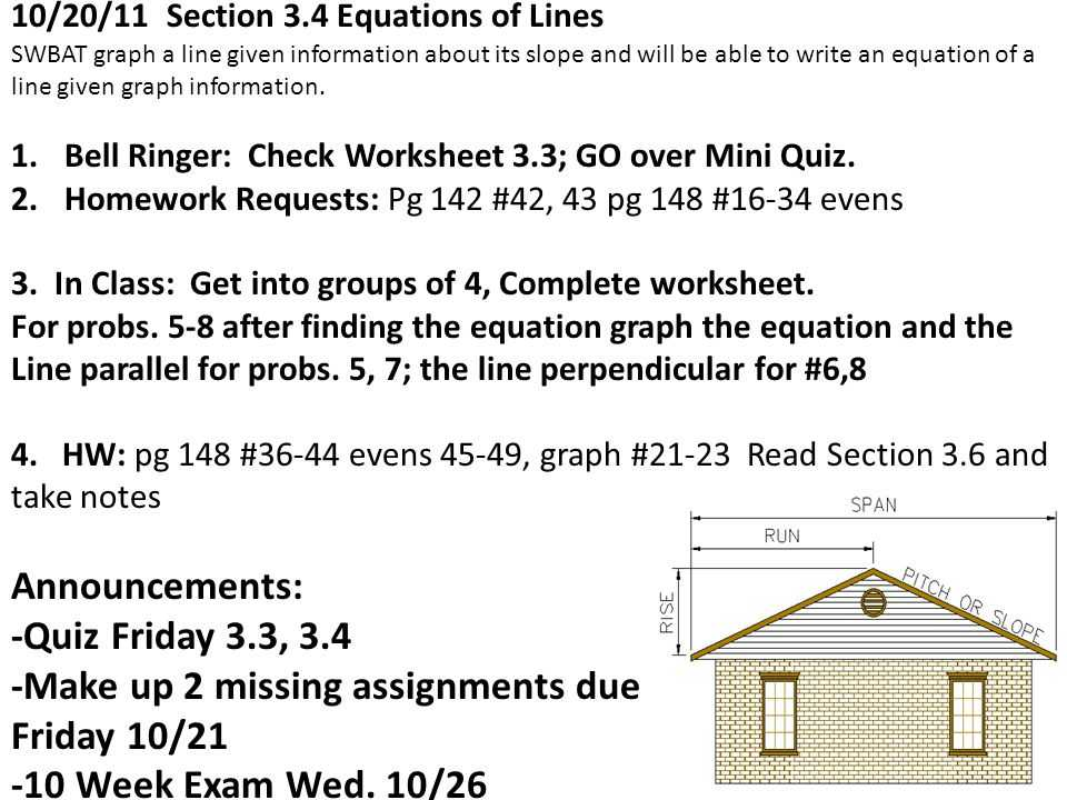 Slope Worksheet 2 Answers with Geometry Date 10 17 2011 Obj Swbat Find Slopes Of Lines & Use the