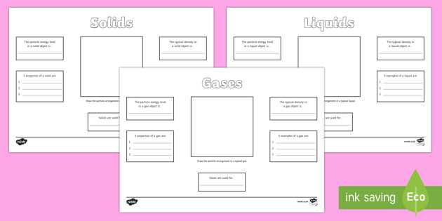 Solid Liquid Gas Worksheet Also Ks3 solids Liquids and Gases Poster Homework Worksheet