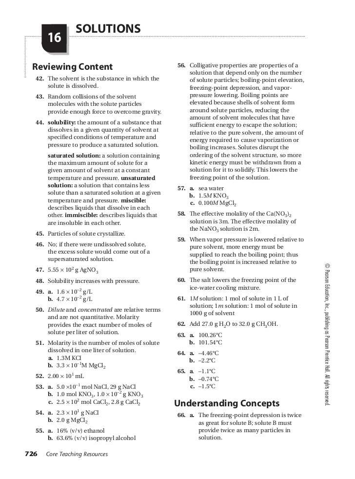 Solutions Worksheet Answers Chemistry Along with Chemistry Chapter 16 assessment Small