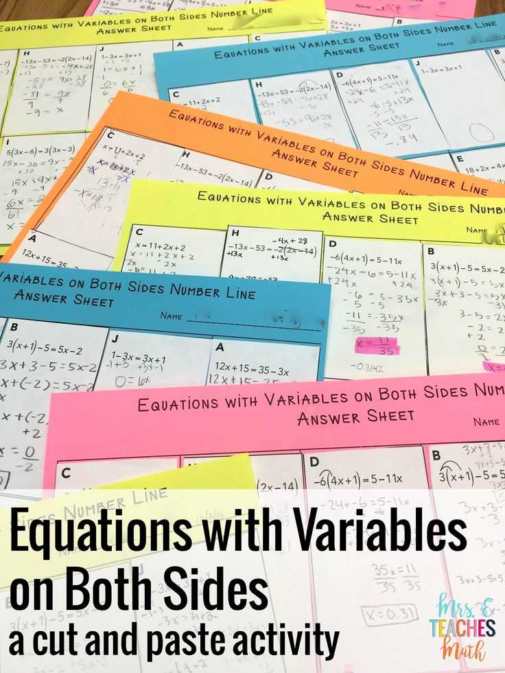 Solving Equations with Variables On Both Sides Worksheet Answer Key together with 11 Best Math 8 solving Equations with Infinite E or No solution