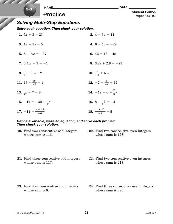 Solving Equations Worksheet Answers and Worksheets 45 Inspirational solving Equations with Variables Both