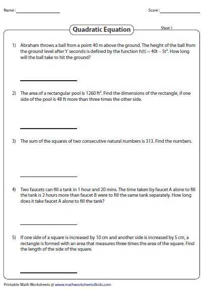 Solving Equations Worksheets with 13 Best Quadratic Equation and Function Images On Pinterest