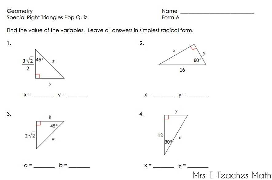 Solving Right Triangles Worksheet Along with 5 8 Homework 30 60 90 Triangles Key Studentlifeguide