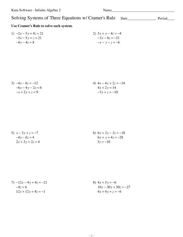 Solving Systems by Elimination Worksheet with Worksheets 45 Inspirational solving Equations with Variables Both