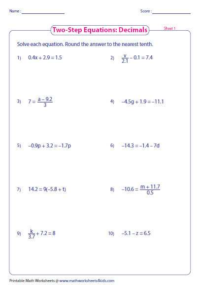 Solving Two Step Equations Worksheet Answers and solving Multi Step Equations Worksheet