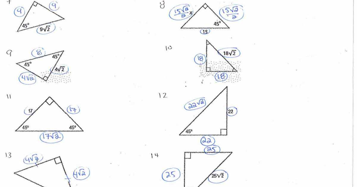 Special Right Triangles Worksheet Pdf as Well as Special Triangles Worksheet