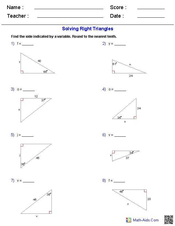 Special Right Triangles Worksheet Pdf or 82 Best Trigonometry Images On Pinterest