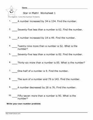 Stem Careers Worksheet 1 Answers Also Pre Algebra Number Problem Worksheets with Answers