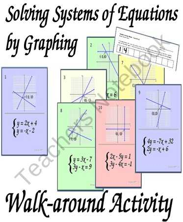 Systems Of Equations Activity Worksheet and 218 Best Algebra Images On Pinterest