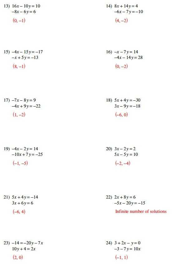 Systems Of Equations Substitution Worksheet as Well as System Equations Worksheet Answers the Best Worksheets Image