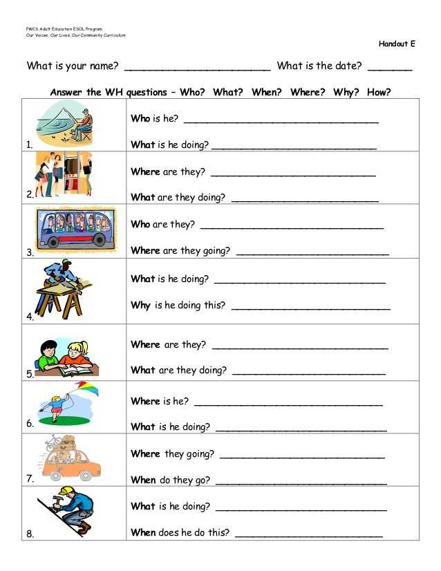 Teachers Curriculum Institute Worksheet Answers together with Wh Questions Worksheets Google Search