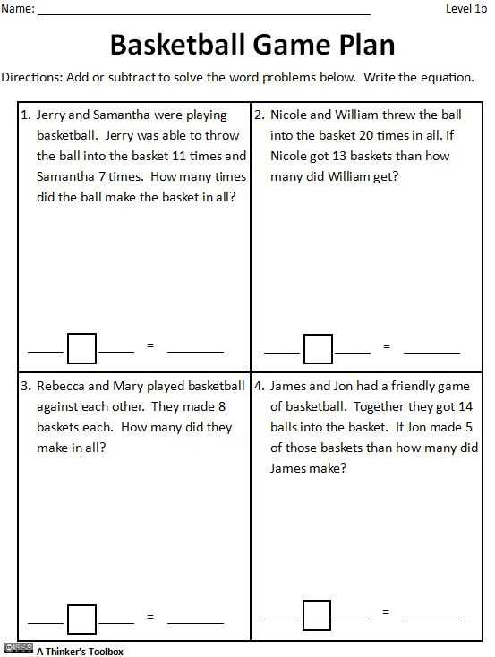 Teaching Responsibility Worksheets together with Basketball Math Madness