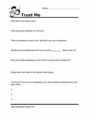 Team Building Worksheets with Printable Worksheets for Kids to Help Build their social Skills