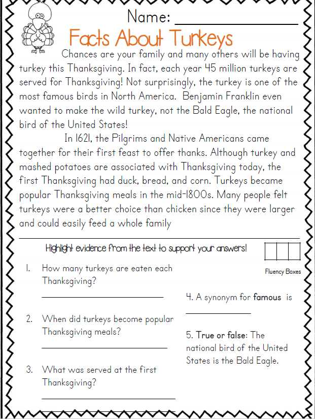 Thanksgiving Reading Comprehension Worksheets together with Thanksgiving Reading Passages Mon Core Aligned