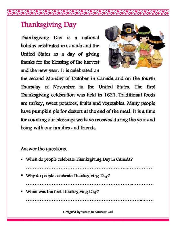 Thanksgiving Reading Comprehension Worksheets with 1st Grade Reading Prehension Worksheets Fresh Thanksgiving