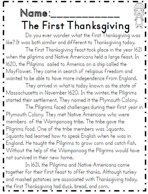 Thanksgiving Reading Comprehension Worksheets with Second Grade Thanksgiving Math & Ela Packet Mon Core Aligned