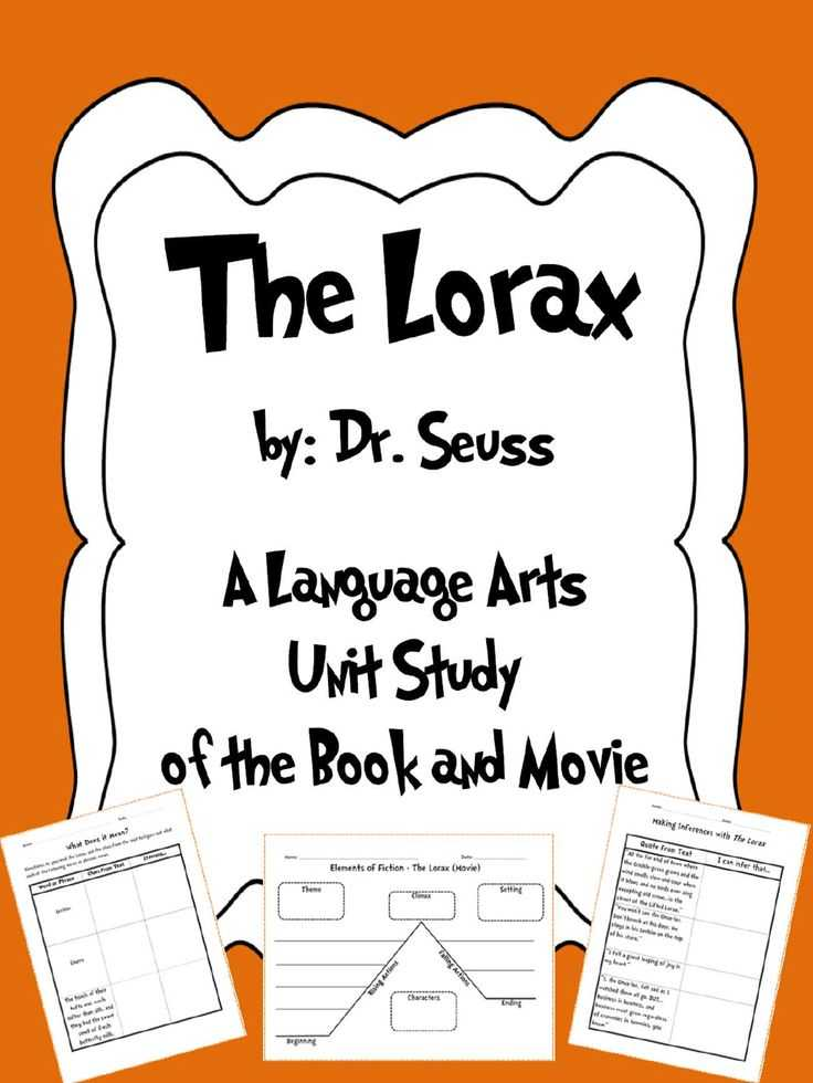 The Lorax Movie Worksheet Answers or 155 Best Teaching Language Arts Images On Pinterest