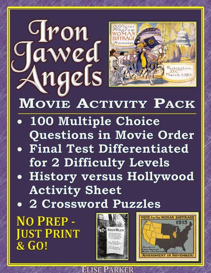 The Roaring Twenties Worksheet Answers as Well as Iron Jawed Angels Worksheet and Activity Pack Suffrage Worksheets
