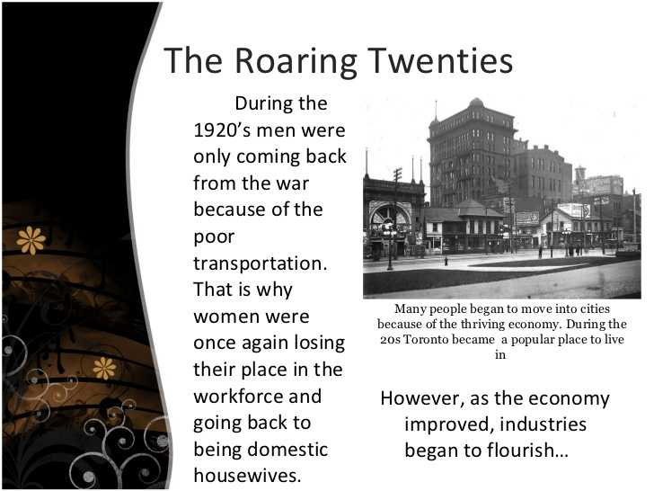 The Roaring Twenties Worksheet Answers with Canadian History 1920 1930 assignment