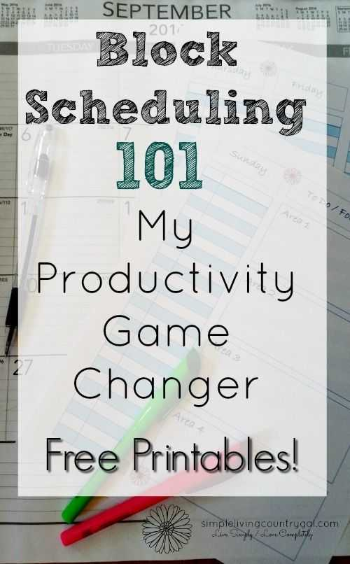 Time Management Worksheet with How to Use Block Scheduling to Change Your Life