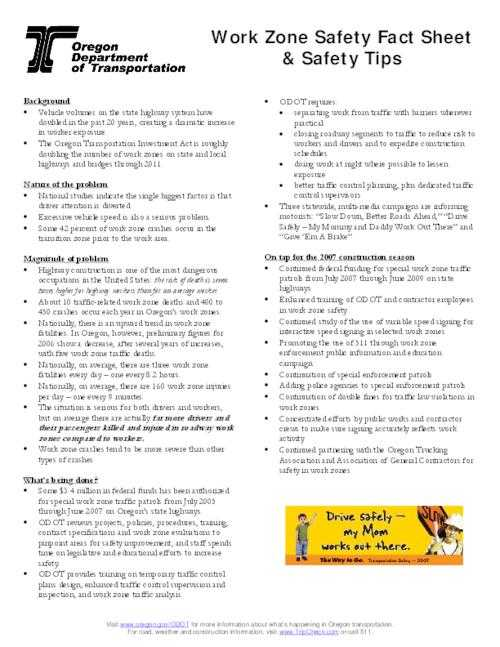 Time Zone Worksheet together with Work Zone Safety Facts and Tips 2007