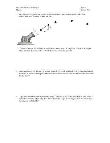 Transparency 6 1 Worksheet the Trajectory Of A Projectile Answers as Well as New Projectile Motion Worksheet Lovely Projectile Motion Worksheet