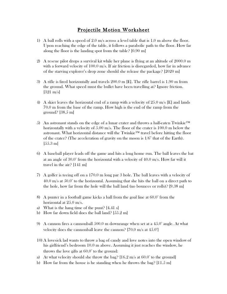 Transparency 6 1 Worksheet the Trajectory Of A Projectile Answers or Worksheets 49 Unique Projectile Motion Worksheet Hd Wallpaper S