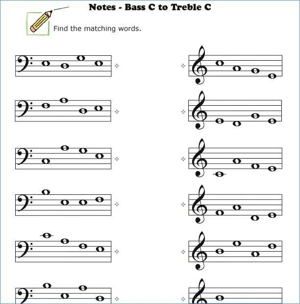 Treble Clef Worksheets with Bass Clef Notes Worksheet Image Collections Worksheet Math for Kids