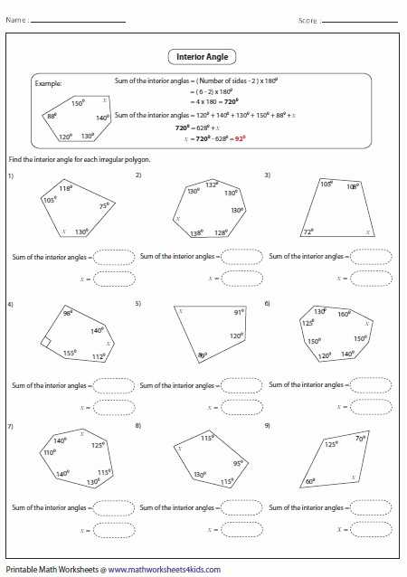 Triangle Interior Angle Worksheet Answers Along with Exterior Angle theorem Worksheet Lovely Worksheets Exterior Angles