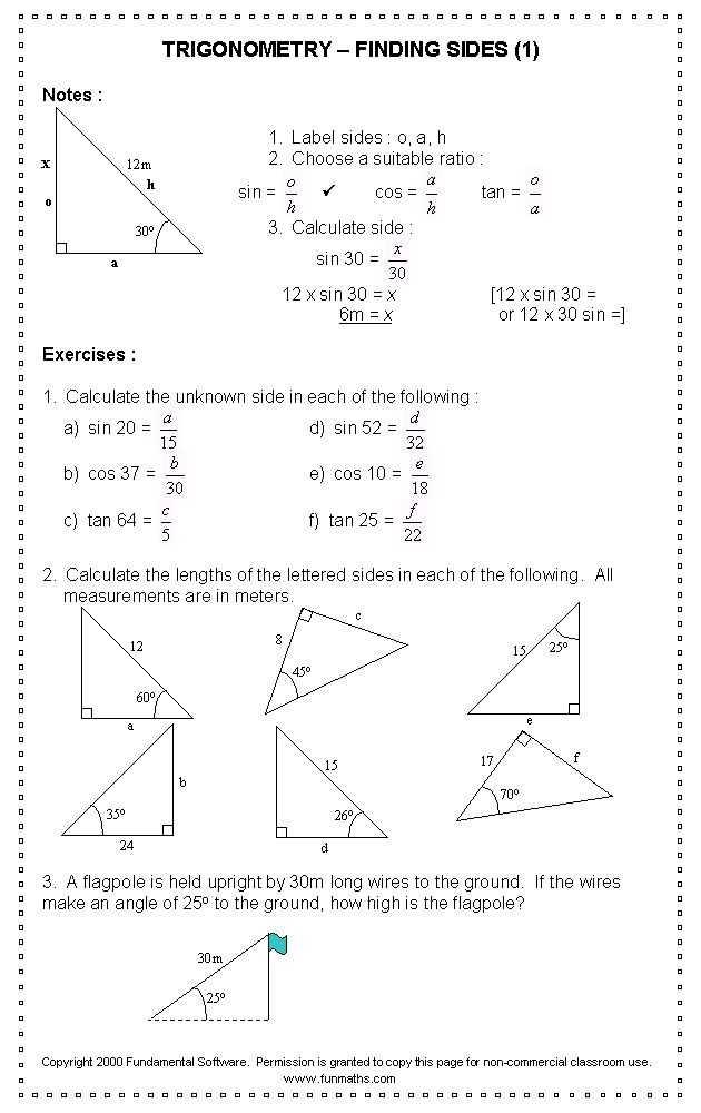 Trigonometry Ratios In Right Triangles Worksheet or 82 Best Trigonometry Images On Pinterest