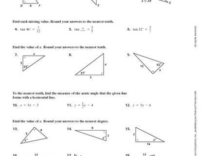 Trigonometry Ratios In Right Triangles Worksheet with Special Right Triangles Worksheet Answers Awesome Tangent Ratio