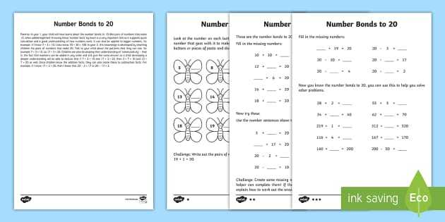 Types Of Bonds Worksheet and Number Bonds to 20 Teaching Resources Page 3