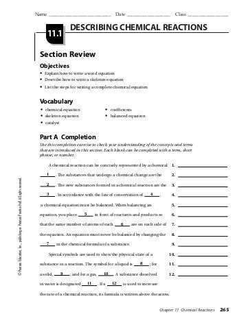 Types Of Chemical Reaction Worksheet Ch 7 and Chemical Reaction Worksheet Answers Awesome Types Chemical
